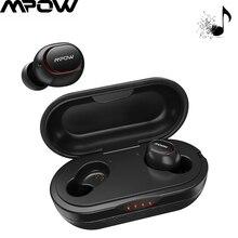 Mpow اللاسلكية سماعات أذن TWS APTX بلوتوث 5.0 سماعات 36H اللعب ستيريو ثلاثية الأبعاد CVC8.0 إلغاء الضوضاء الموسيقى سماعة رأس مزودة بميكروفون