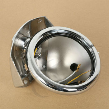 "5.75"" 5-3/4"" Chrome Headlight Housing Bucket For Harley Electra Glide Bad Boy"