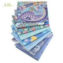 Chainho, série florale bleue, tissu en coton sergé imprimé, tissu Patchwork pour le bricolage