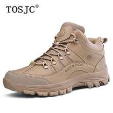 TOSJC Brand Mens Hiking Shoes Trekking Footwear Tough Mountain Climbing Shoes Autumn Man Hiking Boots Outdoor Work Safety Shoes цены онлайн