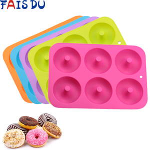 Silicone Donut Mold Baking Pan Non-Stick Baking Pastry Chocolate Cake Dessert DIY Decoration Tools Bagels Muffins Donuts Maker