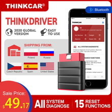 LAUNCH Thinkdriver Bluetooth OBD2 Scanner Automotive OBD 2 IOS Auto Diagnose Code Reader OBD Android Scanner PK Thinkdiag AP200