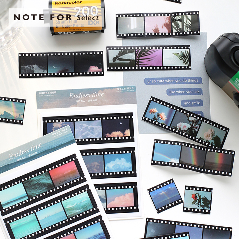 2 Pcs/lot Endless Time Decorative Stickers Scrapbooking PVC Film Sticker Flakes Stationary Album Office Accessories Art Supplies