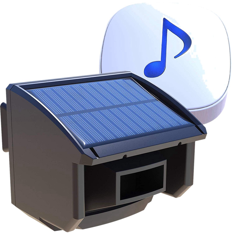 Solar Driveway Alarm System-1/4 Mile Long Transmission Range-Solar Powered No Need Replace Batteries-Outdoor Weatherproof Motio
