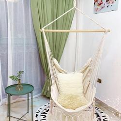 Портативный Кемпинг пляж гамаки стул в богемном стиле хлопок веревка сетка качели веревка балкон Крытый сад кисточки сиденье