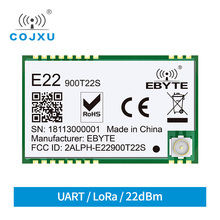 E22 900T22S sx1262 uart tcxo módulo sem fio 868 mhz 915 mhz transceptor iot smd ipex interface