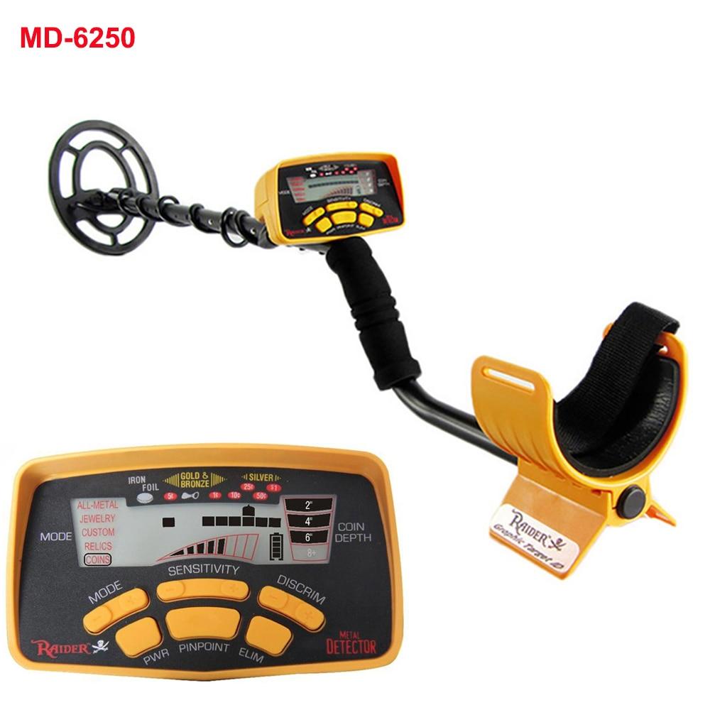 Профессиональный металлоискатель MD 6250, металлоискатель с 3 мя режимами для распознавания монет, ювелирных изделий, видит все металлы|Промышленные металлодетекторы|   | АлиЭкспресс