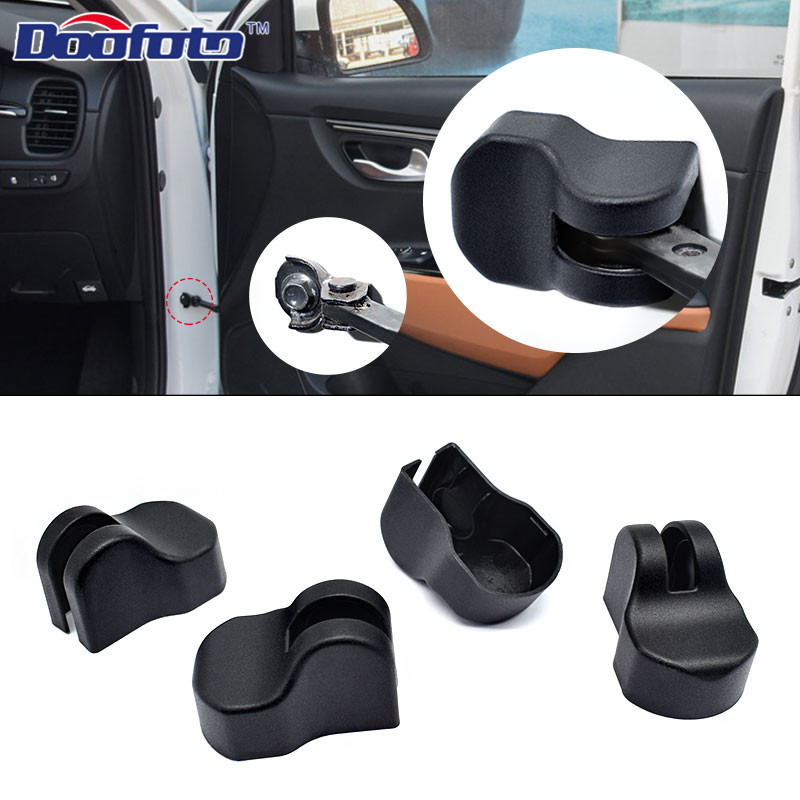 Doofoto 4x Car Arm Door Lock Limiting Stopper Cover For <font><b>Kia</b></font> Rio 3 4 Ceed Sportage Sorento Cerato 2011 2018 2019 Car Accessories image