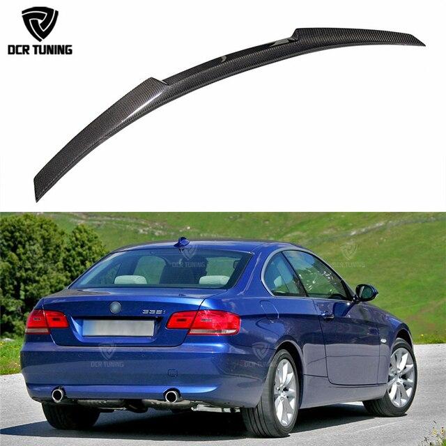 Nieuwe M4 Stijl Voor Bmw E92 Spoiler 3 Serie 2 Deur E92 M3 & E92 Coupe Carbon Kofferbak Spoiler 320i 330i 335i Coupe 2005 2012-in Spoilers & vleugels van Auto´s & Motoren op