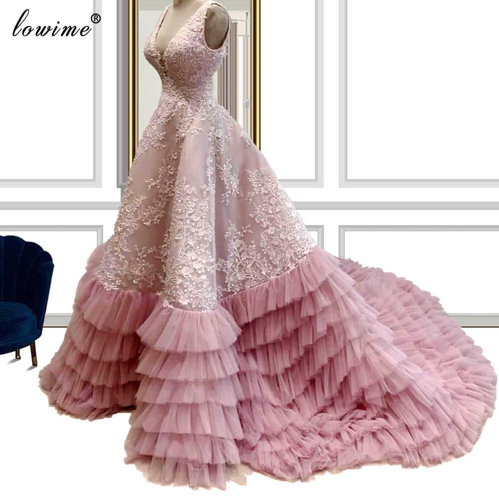 herrliche rosa appliques abendkleider 2020 a-line backless fee abendkleider  lange türkische couture celebrity kleider vestidos