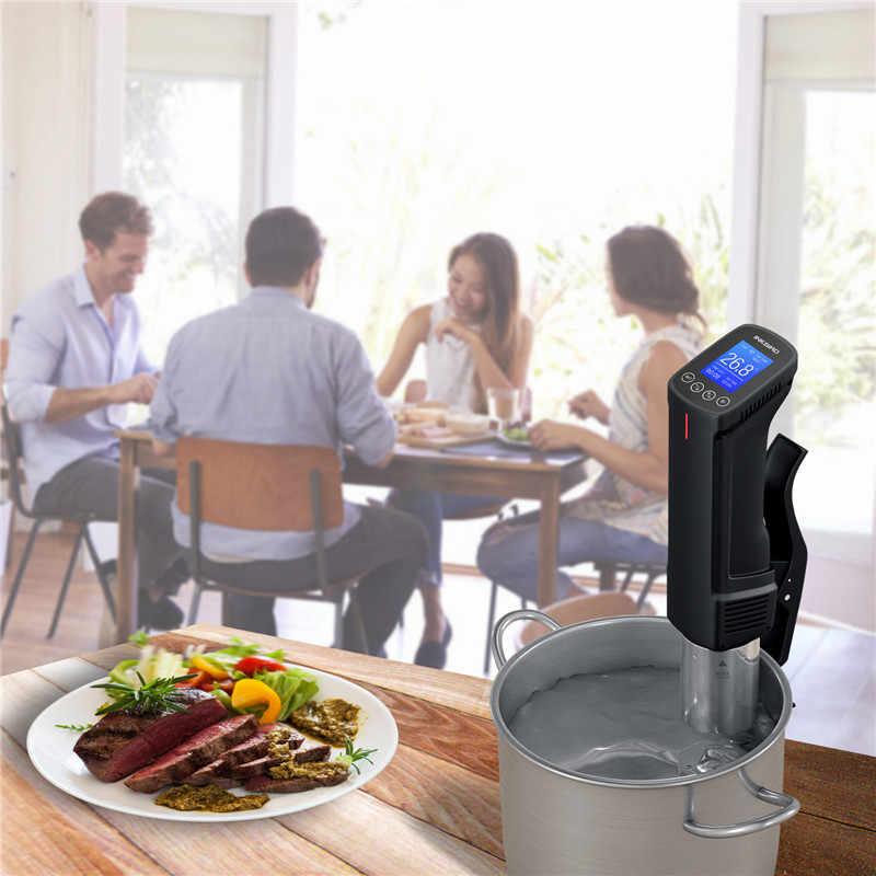 Inkbird 真空遅いスー vide の wi-fi 食品調理器 1000 ワット強力な浸漬サーキュレータ-液晶デジタルタイマー表示ステンレス鋼