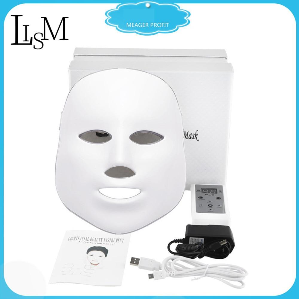 Led Mask Fototerapia Led Photon Skin Rejuvenation Acne Whitening Facial Instrument Mascara Facial Light Therapy Mask