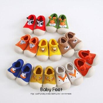 Bébé chaussette chaussures anti-dérapant printemps dessin animé animaux chaussures bébé fille bébé garçon souple semelle en caoutchouc chaussures 1