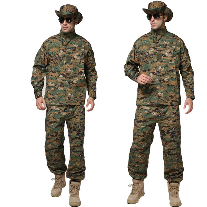 Men Jacket Pants US Army Suit Soldier Combat Shirts ACU Jungle Camouflage CP Tactical Clothing Airsoft Disguise Military Uniform