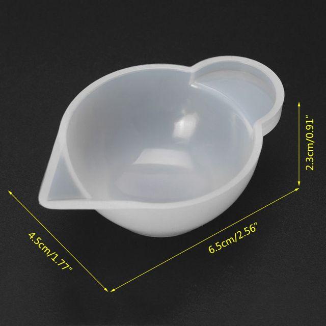 5 pièces Silicone moule tasse distributeur bricolage résine époxy pour la fabrication de bijoux outil couleur Modulation bijoux accessoire