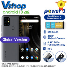"Umidigi Power 3 4 Gb + 64 Gb Android 10 48MP Quad Ai Camera 6150 Mah 6.53 ""Fhd + 4 Gb 64 Gb Helio P60 Global Versie Smartphone Nfc"