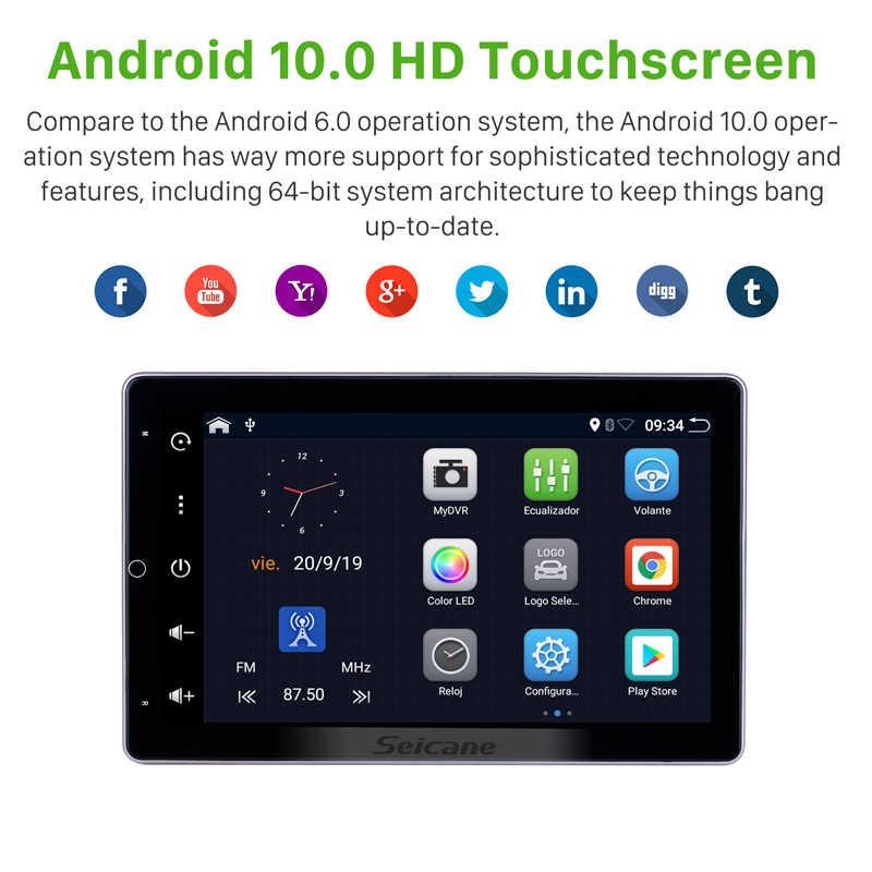 """Seicane Đa Năng Android 10.0 RAM 2GB Rom 32GB 10.1 """"GPS Đa Phương Tiện HD 180°rotatable Hỗ Trợ Màn Hình carplay Đầu Ghi Hình"""
