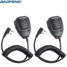 """2 шт. Baofeng ручной микрофон Динамик микрофон для Baofeng UV-5R BF-888S UV-S9 GT-3 UV-82 плюс двухстороннее радио иди и болтай Walkie Talkie """"иди и УФ 5R"""