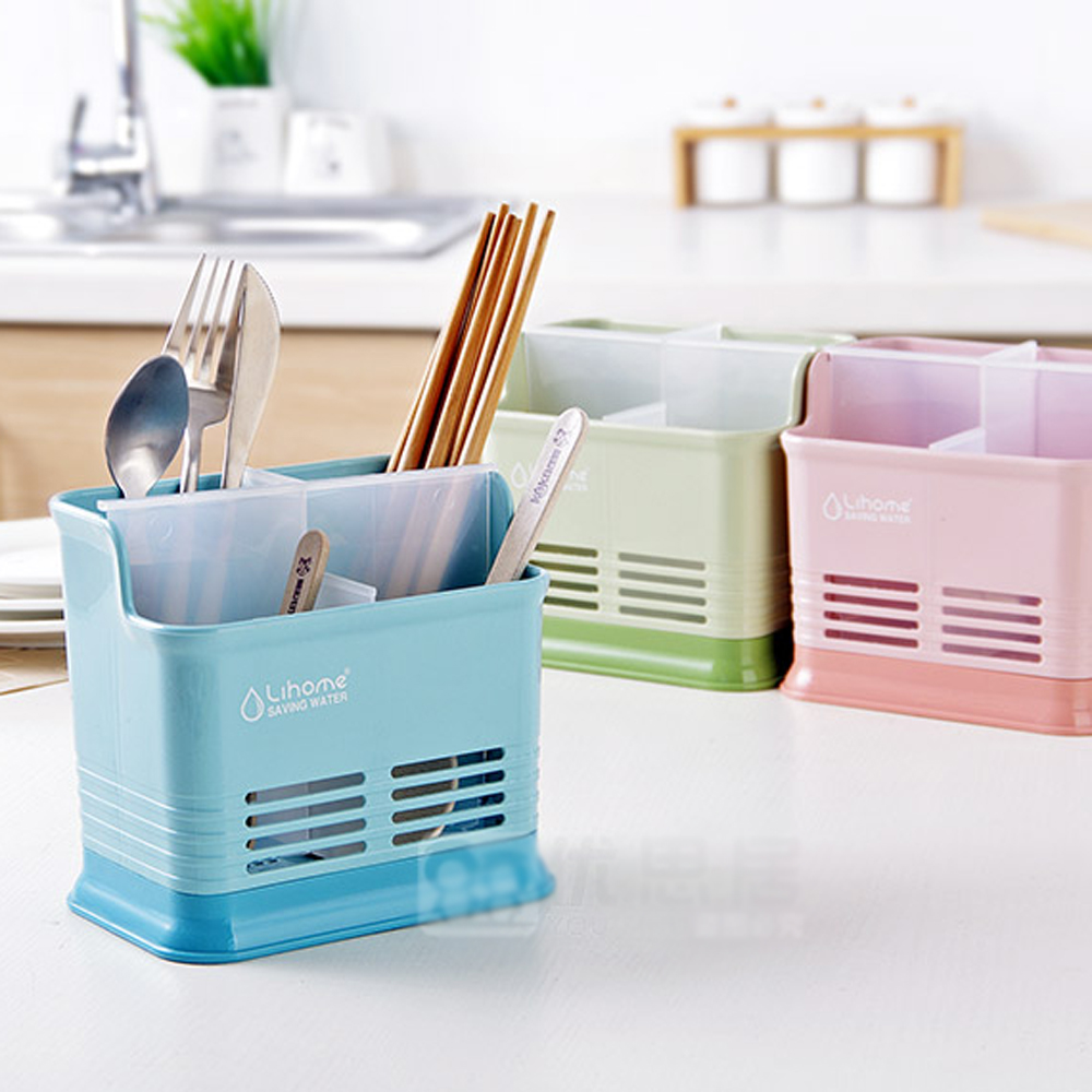 Creative Kitchen Desktop Partition Hollow Chopsticks Cage Kitchen Cutlery Drain Storage Chopsticks Rack WF4091129