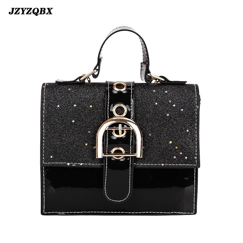 Sequins Shoulder Bag Woman\'s Handbag Luxury Handbags Women Bags Designer Waterproof PU Leather Hasp Messenger Bags