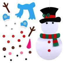 Felt Christmas Snowman Decoration Kids Puzzle Diy Toy