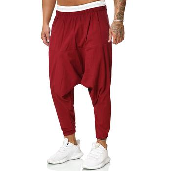Męskie spodnie krzyżowe męskie workowate spodnie haremki męskie solidne czarne spodnie męskie spodnie HipHop męskie Streetwear spodnie z szerokimi nogawkami tanie i dobre opinie Harem spodnie CN (pochodzenie) Pełnej długości