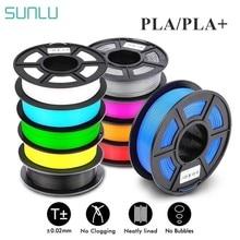 Sunlu pla 1.75mm pla mais filamento 1kg precisão dimensão +/-0.02mm multi-cores para escolher impressora 3d filamento plástico pla