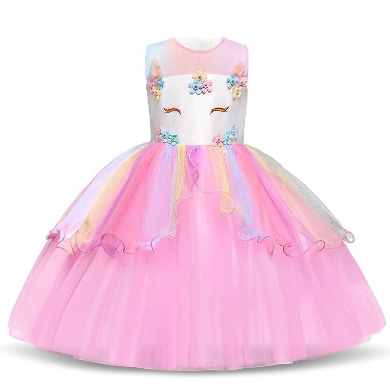 Платье для девочек; элегантное Новогоднее детское праздничное платье принцессы; свадебное платье; Детские платья для девочек; платье для дня рождения; Vestido; одежда - Цвет: Style 14 Pink