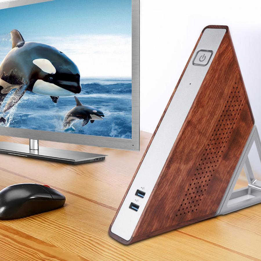 Треугольный мини-ПК с острым углом, треугольный, N3450Quad Core, 8 ГБ ОЗУ, 64 ГБ + 128 Гб SSD, 100-240 В, треугольный мини-ПК