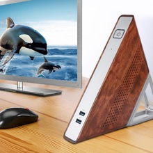 Ângulo agudo triangular mini pc, AA-B4 triangular n3450quad core 8gb ram 64gb + 128gb ssd 100-mini pc triangular de 240v