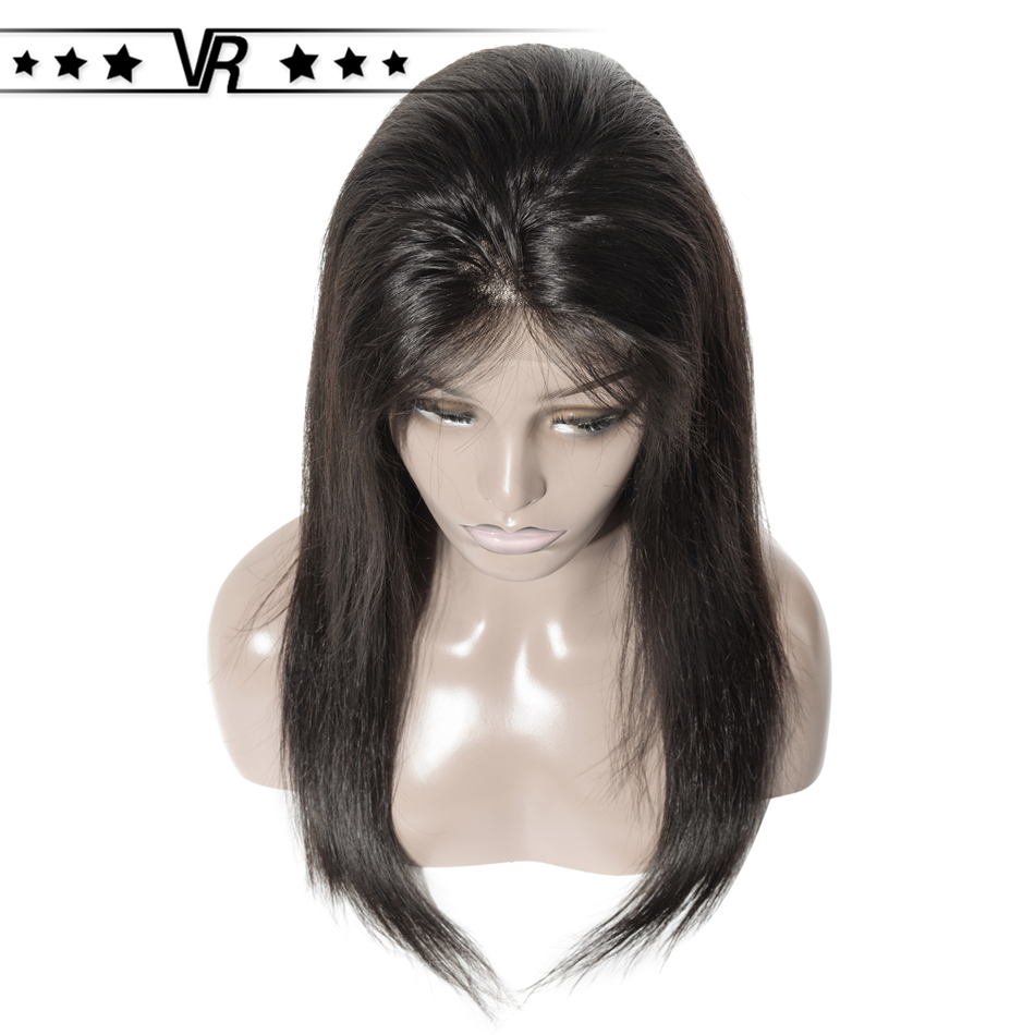 Star Quality Brazilian Human Hair Wig 4x4 180% Density Free Parting Straight Closure Wig