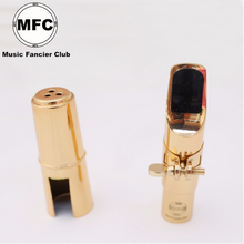 MFC тенор сопрано альт саксофон металлический мундштук электрофорез золотые части и аксессуары