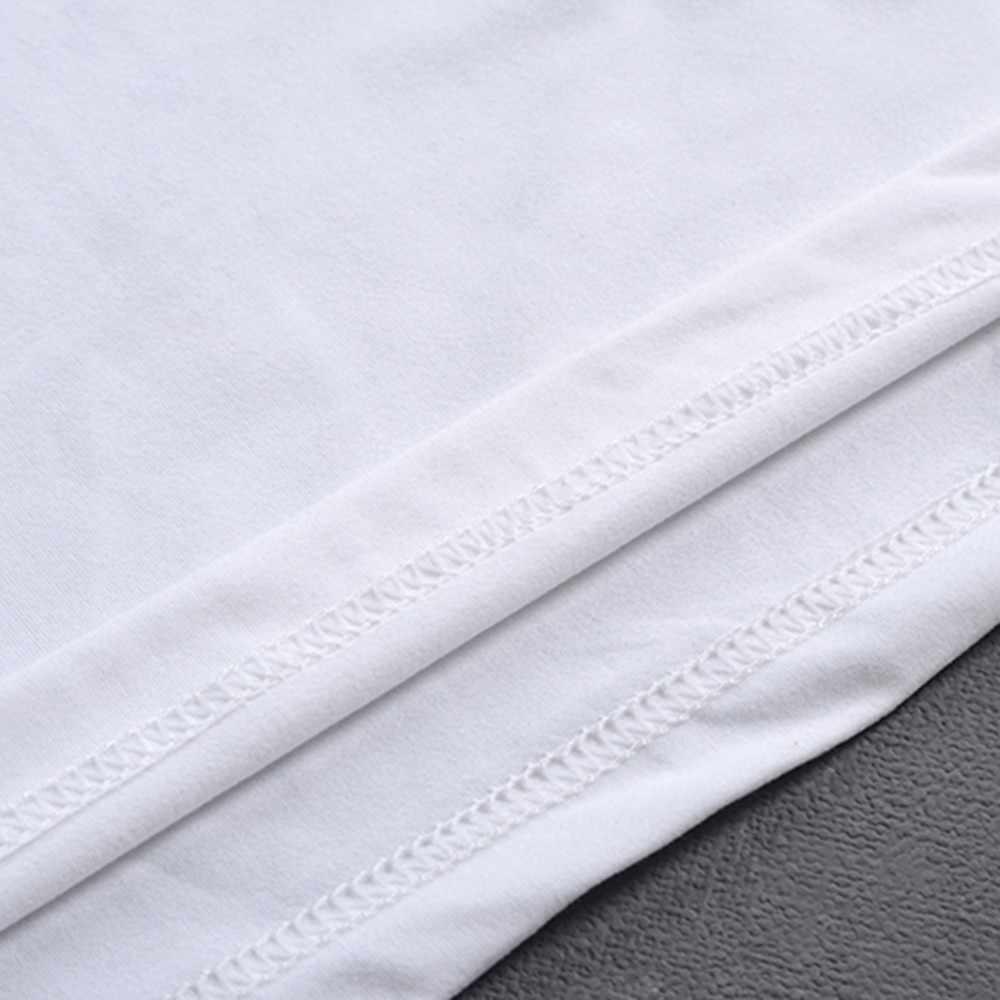 Plus Ukuran Putih Cetak Pria T-shirt O Leher Lengan Pendek Kasual Camisa Longgar Kebesaran Fashion Sex Gomlek # D