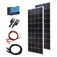 Xinpuguang 200 Вт набор солнечных панелей 2 шт 100 ватт 18 в