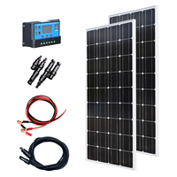 XINPUGUANG 200w solar kit system plate 2 pcs 100 watt 18v Glass solar panel modul mit pv stecker für dach auto caravan home