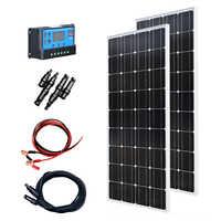 XINPUGUANG 200w solar kit system 2 stücke 100w 18v Glas solar panel modul mit pv stecker für dach auto caravan home