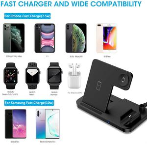 Image 2 - DCAE 4 in 1 QI Wireless Charger Stand For iPhone 11 Pro XS XR X 8 10W Fast Charging Dock Station for Airpods Apple Watch 5 4 3 2