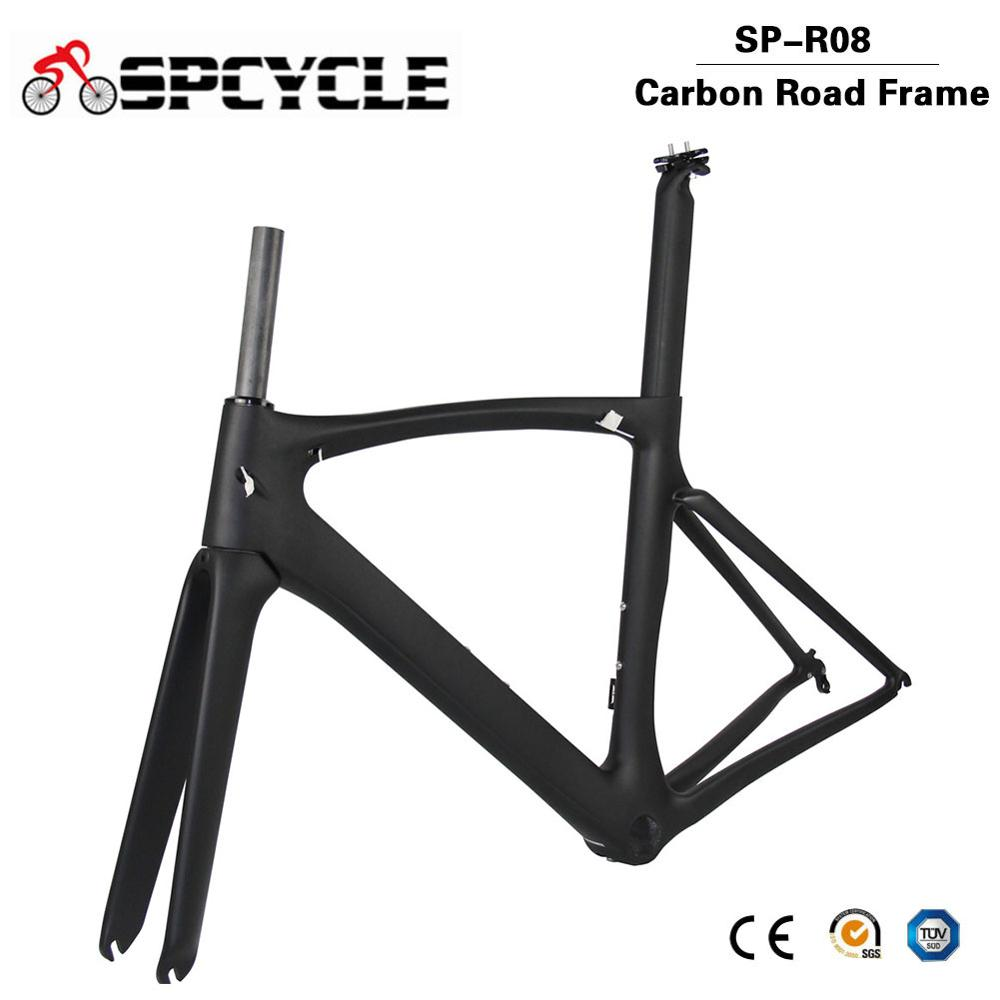 Spcycle Aero Full Carbon Road Bike Frame PF30 Racing Bicycle Carbon Frameset Black Matte/Glossy Size 46/49/52/54/56/58cm