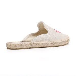 Image 4 - Tienda Soludos נעלי בד נעלי בית עבור שטוח נעלי 2019 קידום חדש הגעה קנבוס קיץ גומי פרדות שקופיות Zapatos De Mujer