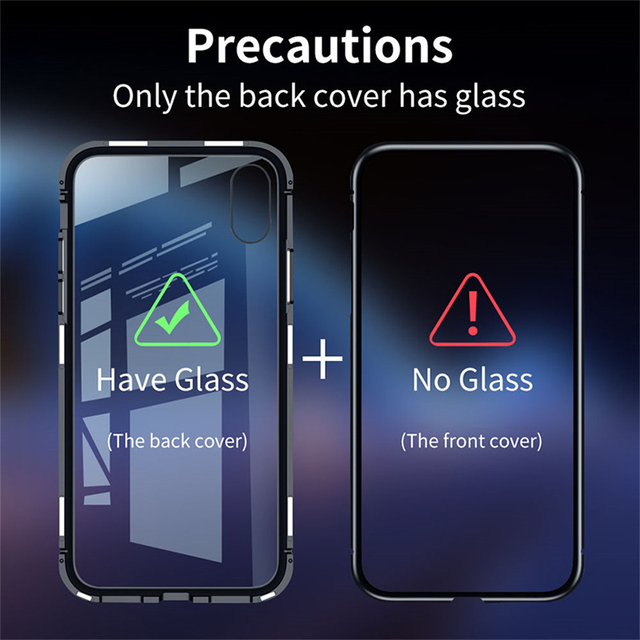 Magnetic Adsorption Metal Case For iPhone SE 2020 11 Pro Max Tempered Glass Back Case For iPhone XS Max XR X 8 7 6S 6 Plus Cover 3