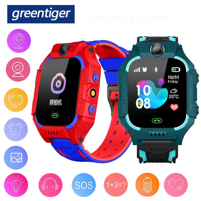 Greentiger Q19 Smart Watch Kids LBS Positioning Lacation SOS Camera Phone Smart Baby Watch Voice Chat Smartwatch VS Q02 Q528|Smart Watches| |  - AliExpress