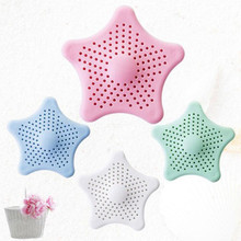 Sewer Star Outfall Strainer Cover Bathroom Sink Filter Anti-blocking Floor Drain Hair Stopper Catcher For Accessories