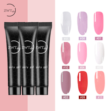 ZWTale Polygel Nail Acrylic Poly Gel  Pink White Clear Crystal UV Polish Enhancement Slip Solution Quick Extension