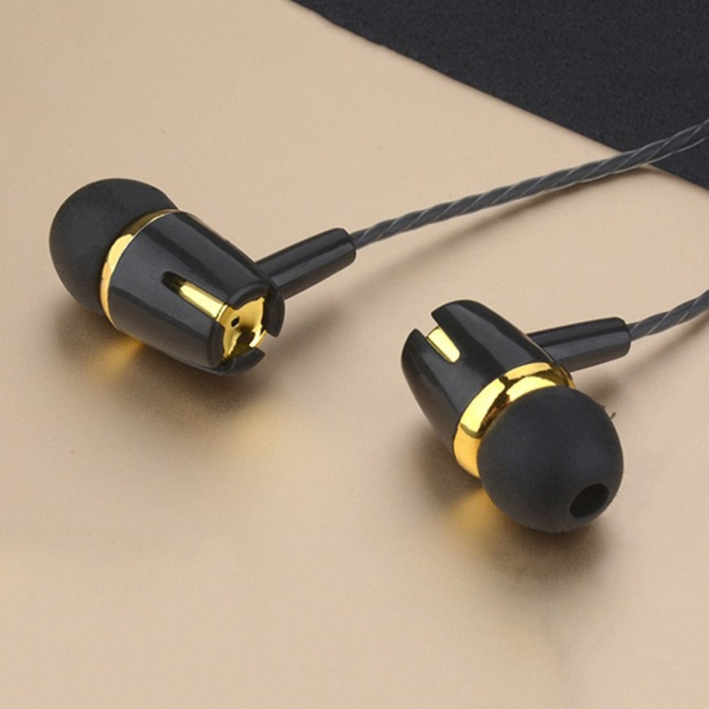 Wired Earphone Bass Stereo In-ear Earphone with Mic Handsfree Call Phone Headset for Android iOS