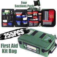 255 Stuks Handige Ehbo kit Bag Lichtgewicht Emergency Medical Rescue Tassen Voor Thuis Buiten Auto Reizen School Wandelen SurvivalEerstehulpkoffers