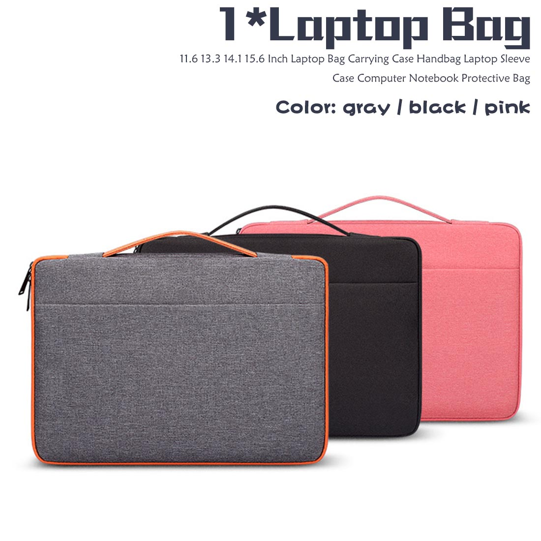 1PC Laptop Sleeve Case Protective Cover  Notebook Pouch Carrying Case Hand Bag