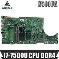 SAMXINNO для ASUS X510U X510UA X510UN X510UR X510URR X510UQ Laotop материнская плата X510UA материнская плата с I7-7500U CPU DDR4
