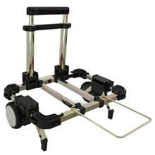 Hand-Truck Trolley Folding Moving for Dolly Adjustable-Handle Compact Lightweight Travelling
