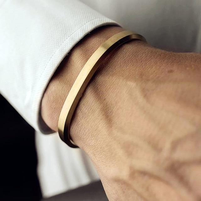 Mcllroy manchette Bracelets Bracelets hommes femmes acier inoxydable or bracelet amour Viking unisexe Pulseras luxe mode bijoux Bracelets 1