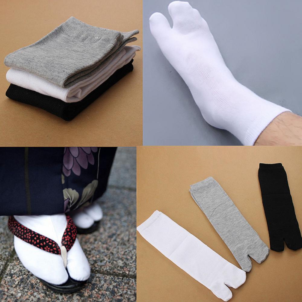 1Pairs Breathable Two Fingers Socks Practical Unisex Japanese Kimono Flip Flop Sandal Split Toe Tabi Ninja Geta Socks